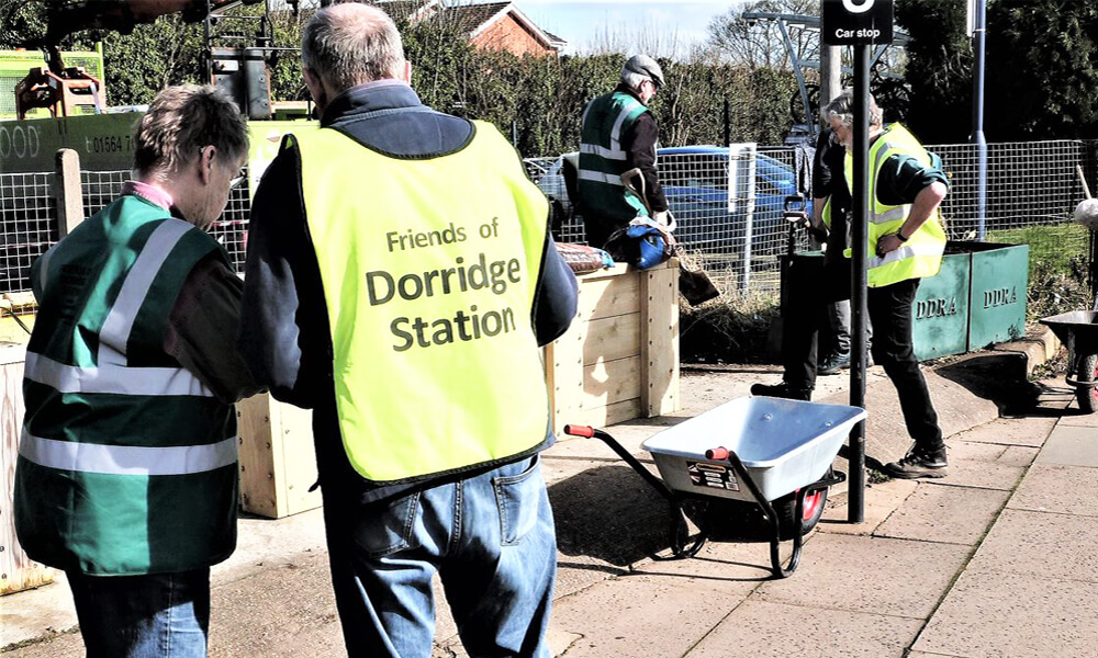 People working away at Dorridge station